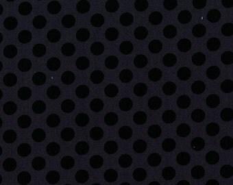 Ebony Ta Dot  - HALF YARD - Michael Miller - Cotton Fabric - Quilting Fabric