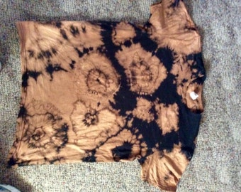 A men's bleached tye dye shirt