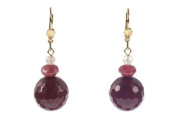 Raspberry Earrings (Piece #17)