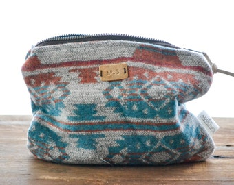 Small Zipper Pouch | Southwest Toiletry Bag | Cosmetic Bag | Makeup Pouch | Travel Pouch | Makeup Bag | Accessories Pouch | Toiletry Storage