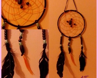 Black & Green Dream Catcher - Large