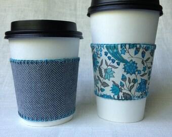 Coffee Cozy Reversible - handmade