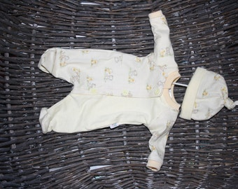 """Reborn dolls clothes ~ fits 11-12""""doll ~ coverall with hat"""