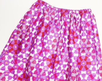Girls' Skirts // Pink and Purple African Print Skirts for Girls // Ankara Print Skirts in Pink and Purple
