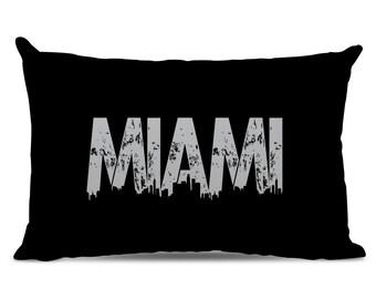 Miami Pillow - Miami Skyline Pillow - City Pillow - Urban Throw Pillow - Miami Gift - City of Miami