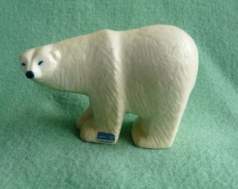 Polar bear. Figurine by Lisa Larsson. Swedish design.