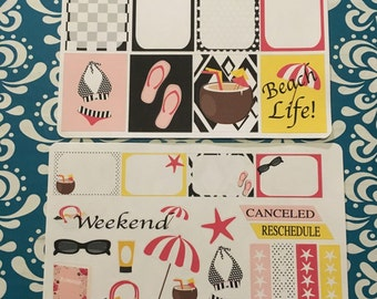 Beach life Planner Stickers
