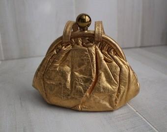 Vintage Gold Evening Bag / Evening Bags / Gold Purse / Vintage Purses