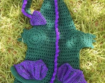 Dragon Cocoon, Crochet Blanket