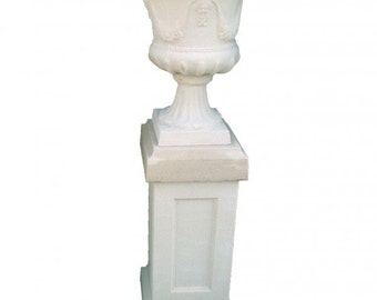planter and pedestal ( York vase )
