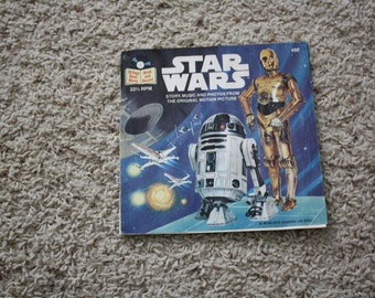 1970's Star Wars 24 Page Read-Alog Book w/Record