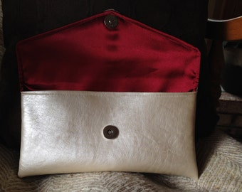 Small Clutch with Satin Fabric
