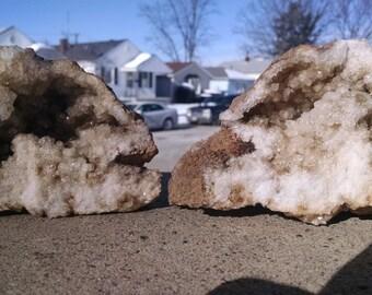 Quartz Geode pair