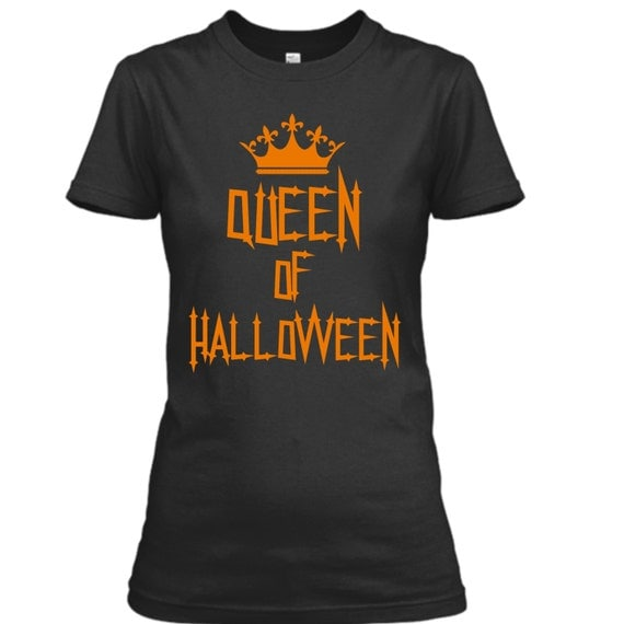 halloween shirts for women funny halloween tshirts women queen of halloween halloween graphic tee shirt ladies halloween shirts teens - Halloween Shirts For Ladies
