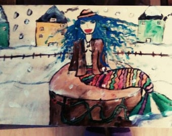 mermaid in the snow outsider art