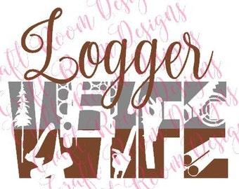Logger Wife SVG Design