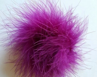 Plum marabou puff feather hairbows purple marabou puff hairbow supplies feather puff