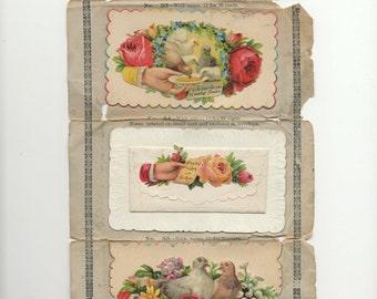 1880's Victorian Calling Cards-Salesman Sample Sheet