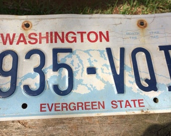 Old Washington State License Plate