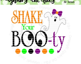 Shake your Boo-ty//Halloween//SVG/EPS//DXF file