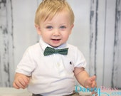 Green dots bow ties, bow ties,   toddlers boys bow ties, shop bow ties, slim bow ties
