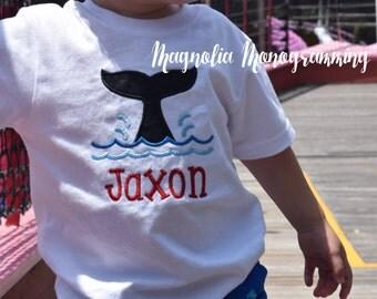 Whale Tail Applique Shirt