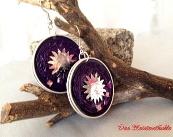 Purple earrings unique jewellery