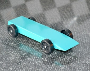 Pinewood Derby Car or AWANA Grand Prix Pine Car from Official Boy Scout / Cub Scout Derby Kit, Finished Car, Race Ready ~ Legal in ALL Races