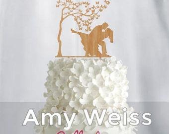 Wedding Cake Topper - Couple dancing - AW1070W