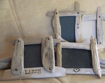 Personalized driftwood picture frames