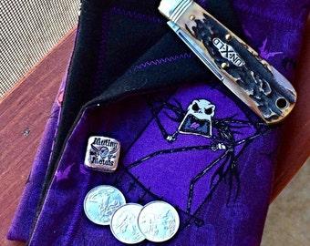 Hanks ( Hanx ) Handmade.  Halloween. Purple.