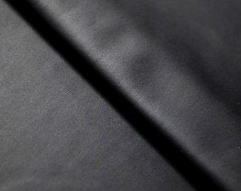 Rubberized Matt Black Stretch Shiny Lame Nylon Spandex Lycra Fabric Best Quality 4-Way Stretch