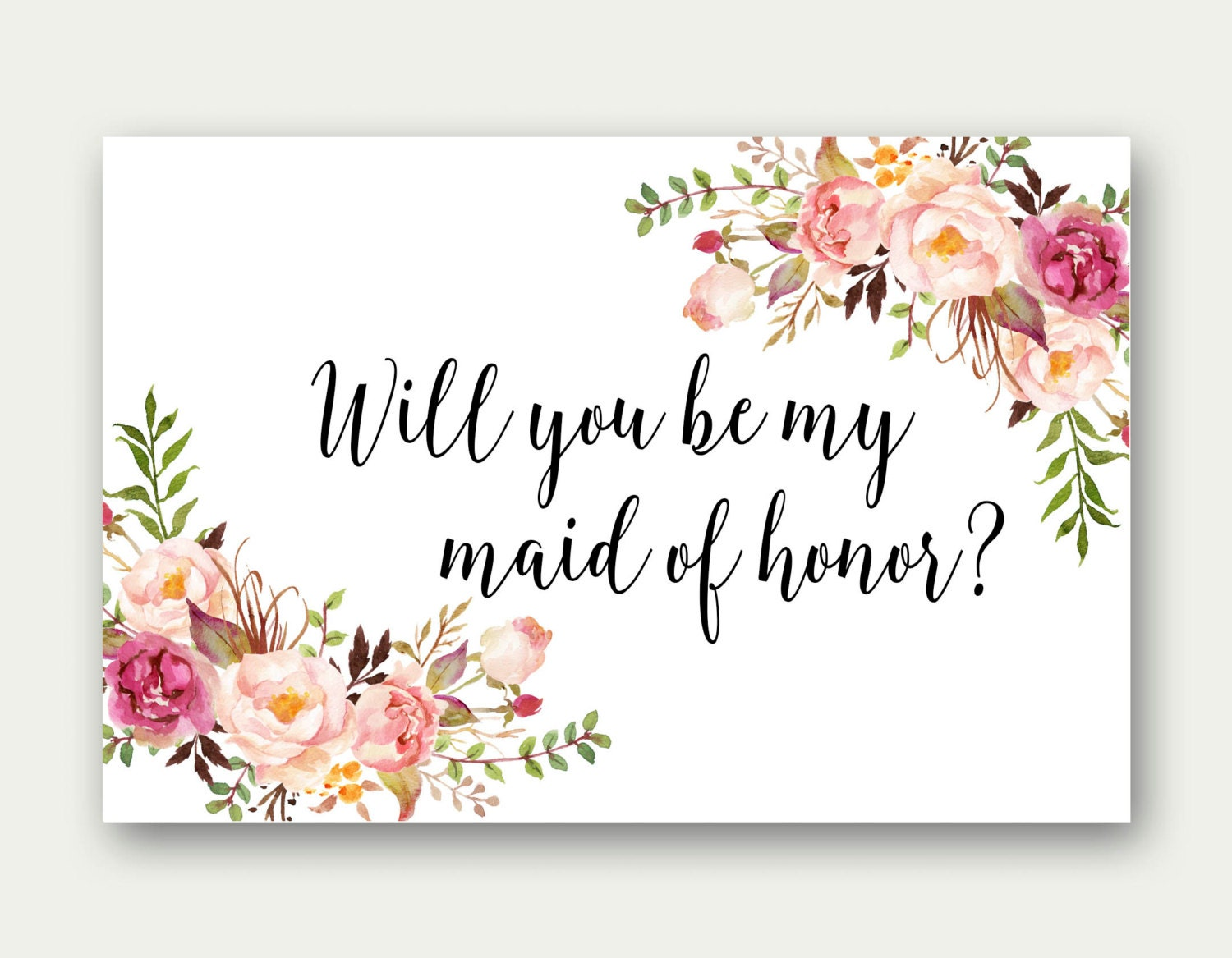 Combo Will You Be My Maid Of Honor Will You Be My Matron Of