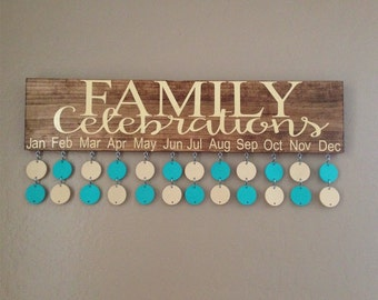 Rustic family celebration board