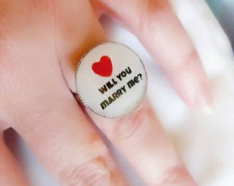 Will you marry me statelment ring