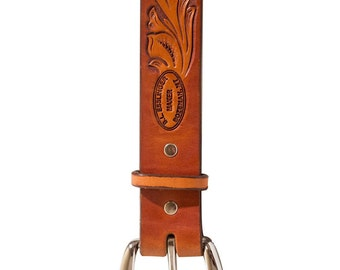 Hand Carved Leather Belt