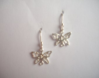 Sterling silver butterfly earrings