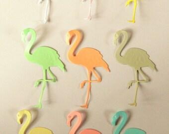 Pastel Flamingo Die Cuts X 20