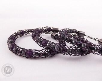 Purple Viking Knit Bracelets