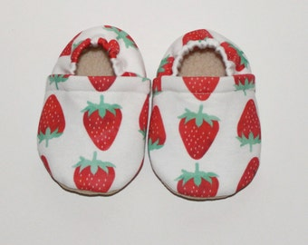 Baby moccasins strawberries