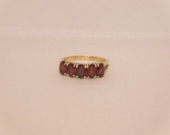 14K  Yellow Gold Ruby Red  Ring