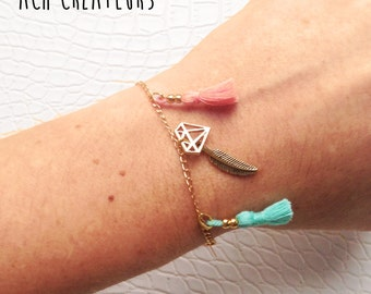 Gold Diamond Summer bracelet