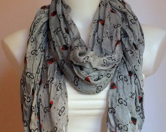 Soft cotton gray scarf Summer scarf Women fashion Women accessories Gift ideas  For her For Mom Spring fashion