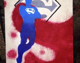 Superman Paint Splatter