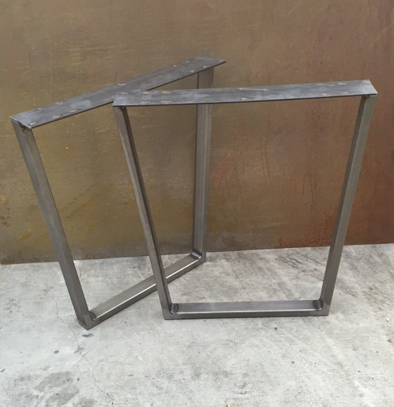 metal table legs taper set of 2