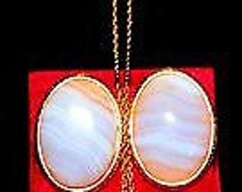 1956 AR Saccoccio Scandinavian Modern Moonstone Earrings and Necklace
