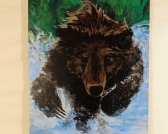 Bear Bounding through Water