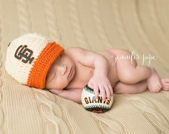 Baby San Francisco Giants inspired Baseball Cap, Hat, Made to Order