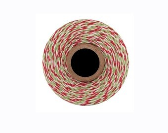 Twine Baker Twine 10 meters colors green, white and Red Christmas