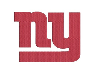 6 sizes - NY Giants Embroidery, New York Giants Football Team Logo Machine Embroidery Design, instant download machine embroidery pattern